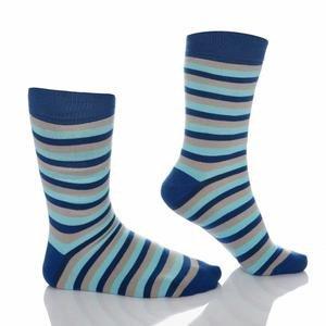 Çizgili Erkek Mavi Çorap MSC2L07