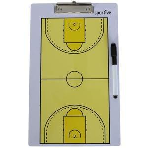 Sarı Çift Taraflı Basketbol Taktik Tahtası RM7-BSK