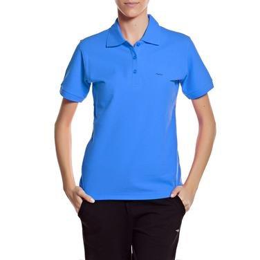 Basic Kadın Mavi Antrenman Polo Tişört 100856-00X 319272