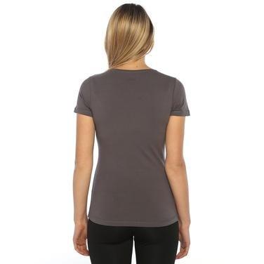 Supkestop Kadın Gri Günlük Stil Tişört 525031-00A 752301