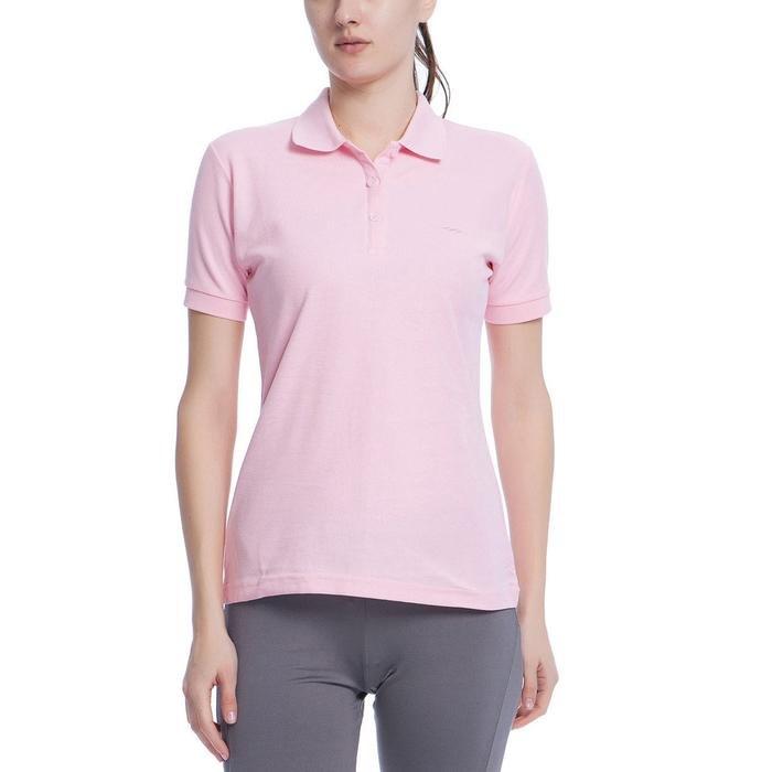 Basic Kadın Pembe Günlük Stil Polo Tişört 100836-00P 500925