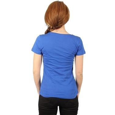 Supkestop Kadın Mavi Günlük Stil Tişört 400214-0SX 714284