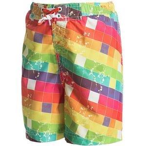 Dash Çocuk Çok Renkli Desenli Deniz Şortu 230125-Kyt