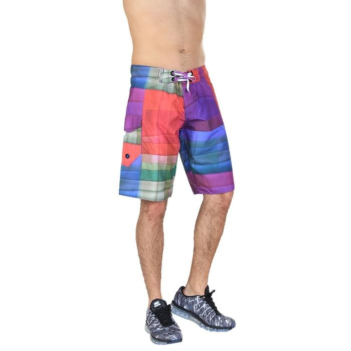 Ascender Erkek Çok Renkli Desenli Deniz Şortu 240032-00M 389576