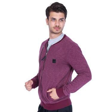 Sw Erkek Mor Günlük Stil Sweatshirt 17169-bordo 906208