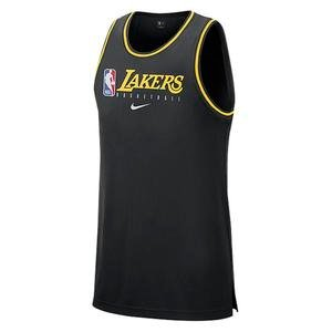 NBA Dri-Fit Los Angeles Lakers NBA Erkek Siyah Atlet BQ9343-010