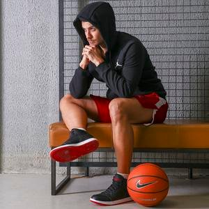 Air Jordan NBA Erkek Siyah Basketbol Uzun Kollu Tişört BV1332-010