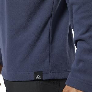 Od Flc Q Zip Erkek Mavi Polar Sweatshirt EB6723