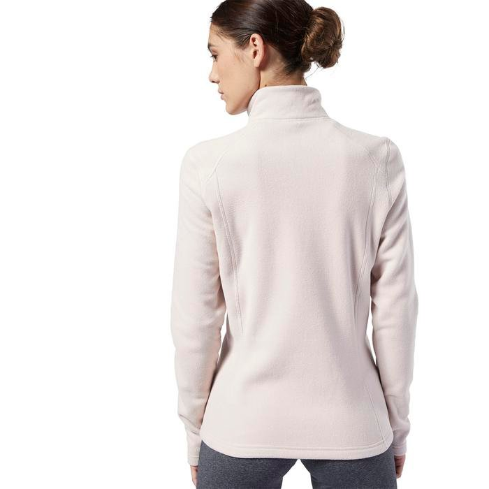 Od Flc Q Zip Kadın Beyaz Polar Sweatshirt EB6719 1146512