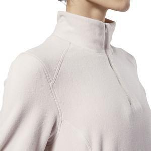 Od Flc Q Zip Kadın Beyaz Polar Sweatshirt EB6719