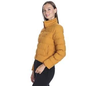 Kadın Sarı Kapüşonlu Outdoor Mont M100033-TRN