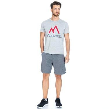 Mountrun Erkek Gri Şort M10021-BLK 1089095