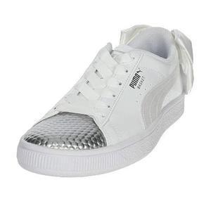 Basket Bow Coated Çocuk Beyaz Günlük Spor Ayakkabı 36898301