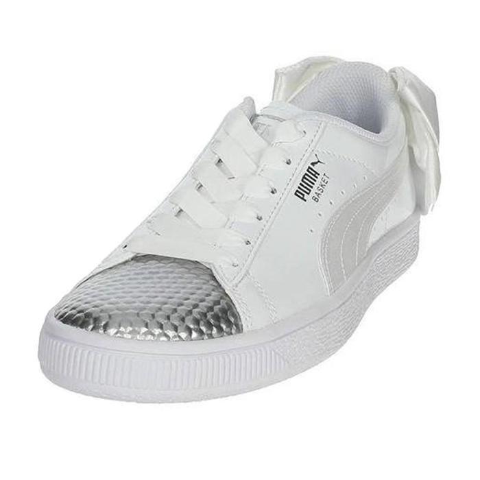 Basket Bow Coated Çocuk Beyaz Günlük Spor Ayakkabı 36898301 1114430