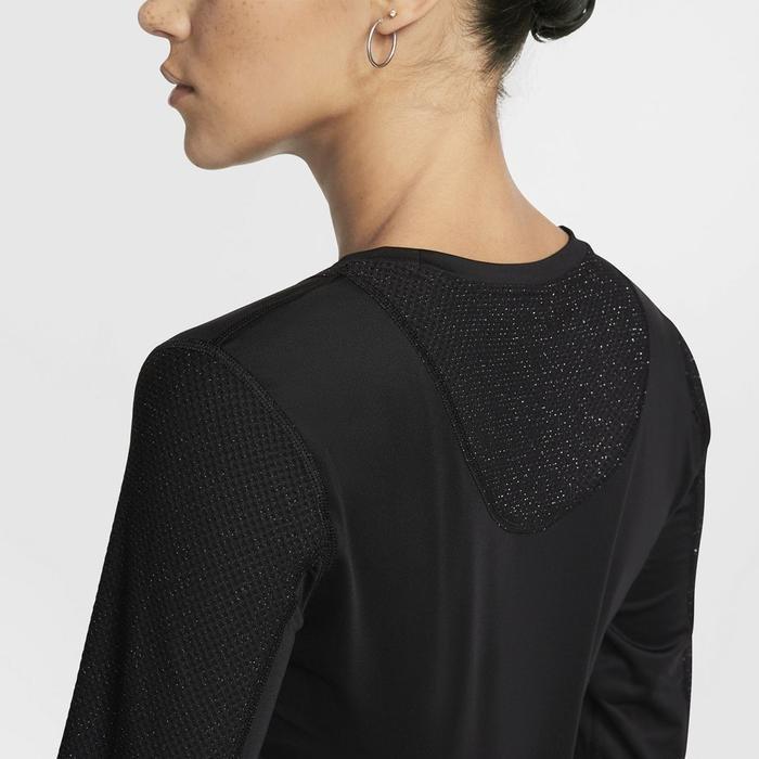 Ls Warm Hollywood Top Kadın Siyah Antrenman Uzun Kollu Tişört BV3392-010 1154779