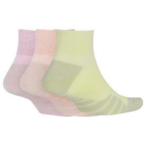 Everyday Max Cushioned Anklet Kadın Çok Renkli 3'lü Antrenman Çorabı SX7578-956