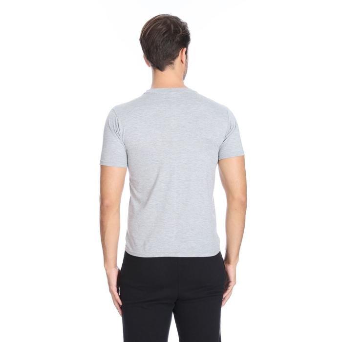 Basic Erkek Gri Günlük Stil Tişört 060020021GR0 104944