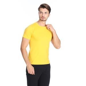 Basic Erkek Sarı Günlük Stil Tişört 060020021KSR1