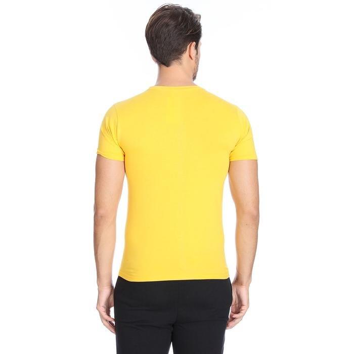 Basic Erkek Sarı Günlük Stil Tişört 060020021KSR1 102942