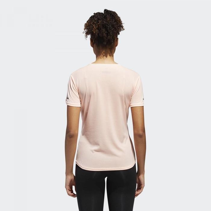 Run W Kadın Pembe Koşu Tişört CY5637 1075806