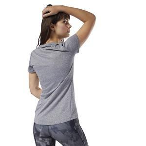 Reflective Kadın Gri Koşu Tişört D78939