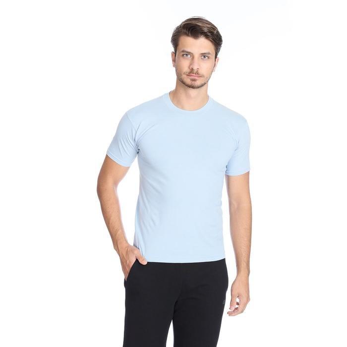 Basic Erkek Mavi Günlük Stil Tişört 060020021MV6 105826