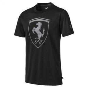 Ferrari Big Shield Tee Erkek Siyah Tişört 59540801
