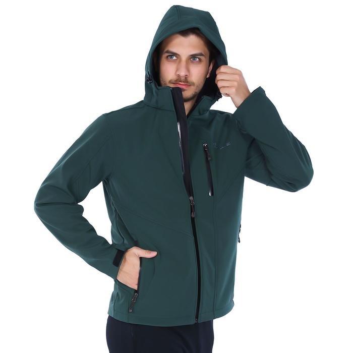 Effect Softshell Erkek Yeşil Kapüşonlu Outdoor Mont 2ASW17022008DGR 994393