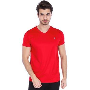 Polvebasic Erkek Kırmızı Günlük Stil Tişört 710303-00F 987916