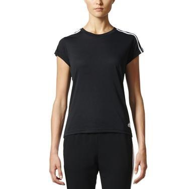Ess 3S Slim Kadın Siyah Günlük Stil Tişört S97183 935518