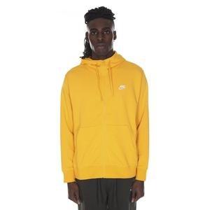 Sportswear Club Erkek Sarı Fermuarlı Kapüşonlü Günlük Sweatshirt BV2648-739
