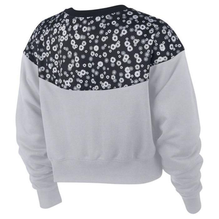 Heritage Crewneck Fleece Kadın Gri Günlük Sweatshirt CJ2469-011 1175577