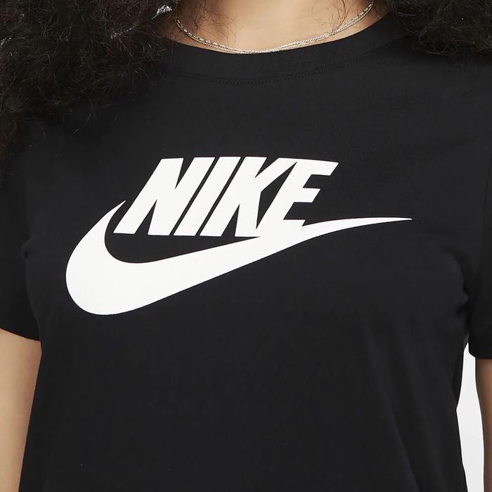 Essntl Icon Futur Kadın Siyah Günlük Stil Tişört BV6169-010 1112973
