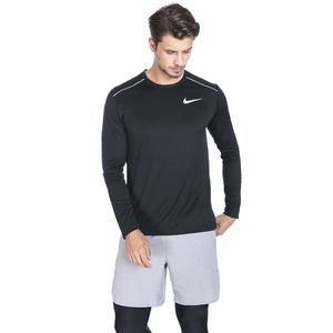 Dry Miler Top Ls Erkek Siyah Koşu Uzun Kollu Tişört AJ7568-010