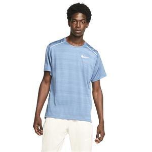 Dry Miler Top Erkek Mavi Koşu Tişörtü AJ7565-418