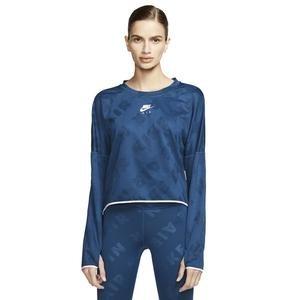 Air Midlayer Crew Kadın Mavi Koşu Uzun Kollu Tişört CJ1882-432