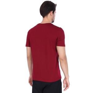 Basic Erkek Bordo Günlük Stil Tişört 710200-0BR