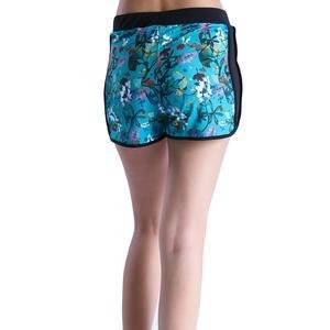 Kadın Mavi Floral Desenli Şort 710167-0VR