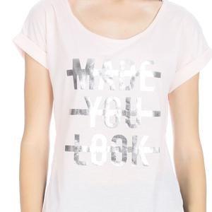 Keslook Kadın Beyaz Koşu Tişört 710605-NDE