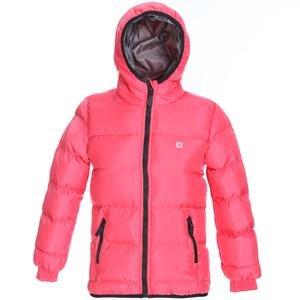 Çocuk Pembe Kapüşonlu Outdoor Mont G10006-PMB