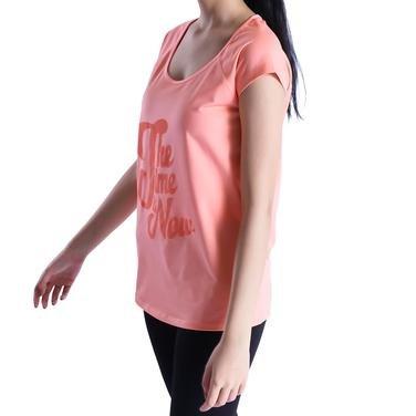 Mikpolbas Kadın Pembe Koşu Tişört 710466-RHD 1016485