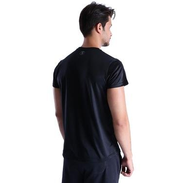 Mikpoletik Erkek Siyah Koşu Tişört 710458-00B 1016434