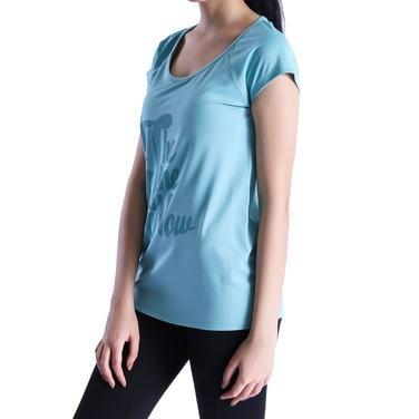 Mikpolbas Kadın Mavi Koşu Tişört 710466-VRD 1016489