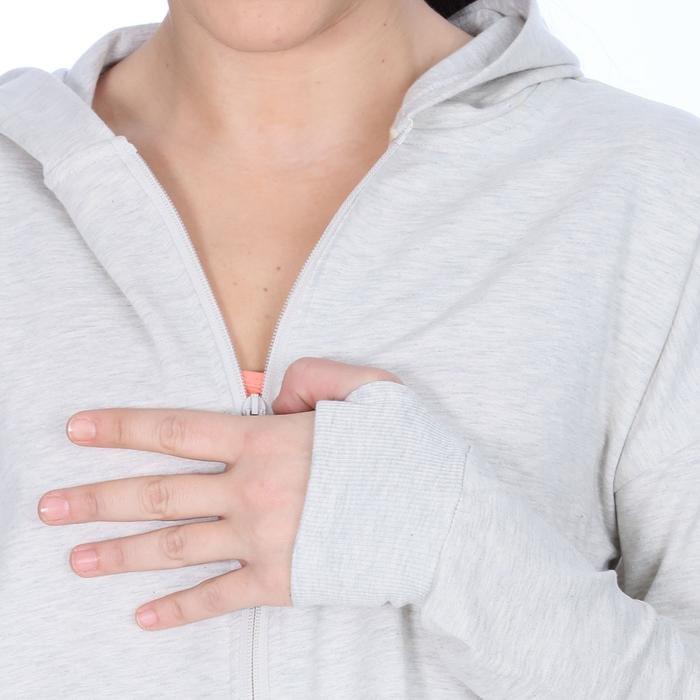 Swekisgirl Kadın Gri Koşu Sweatshirt 710622-GML 1063946