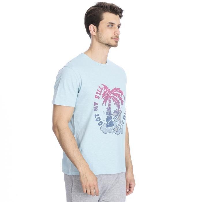 Flafill Erkek Mavi Koşu Tişört 710513-BRN 1063481
