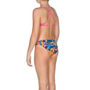 Cores Kız Çocuk Mavi-Pembe-Turuncu Bikini 2A05289