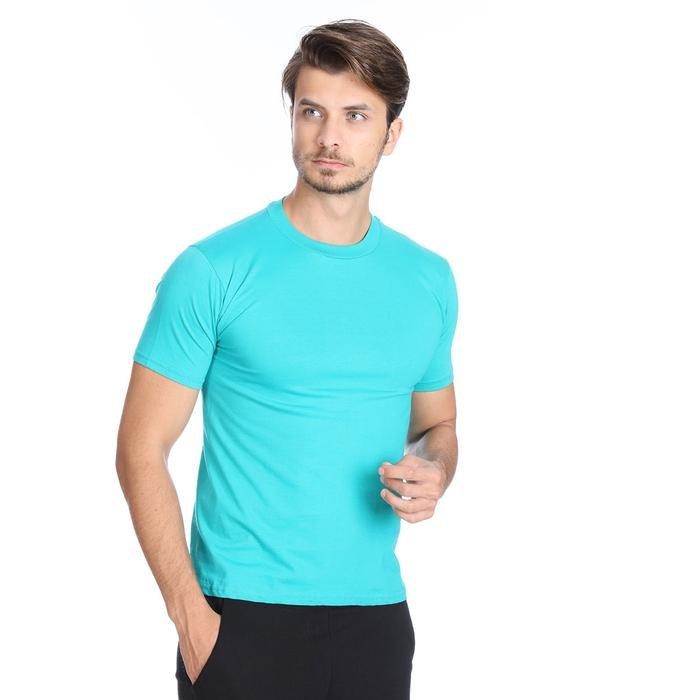 Basic Erkek Mavi Günlük Stil Tişört 060020021Y04 108498