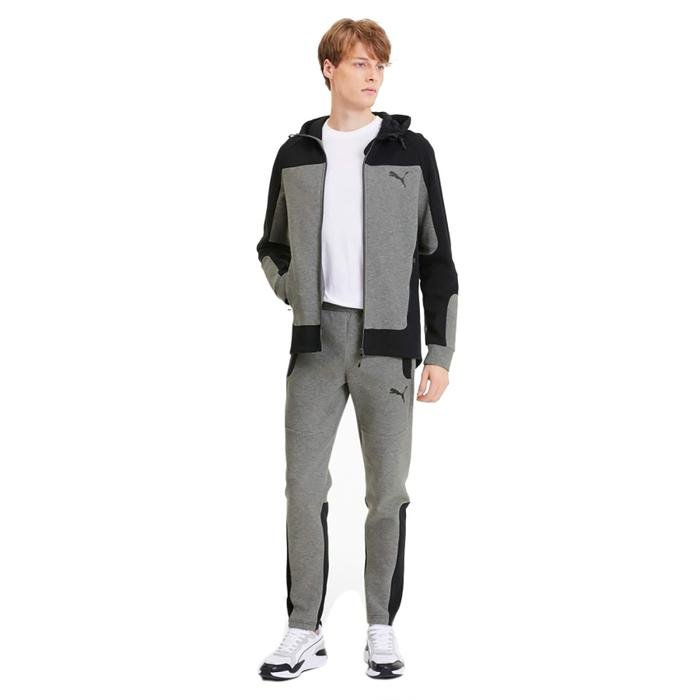 Evostripe Hooded Erkek Gri Günlük Kapüşonlu Sweatshirt 58148603 1172585