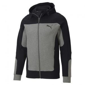 Evostripe Hooded Erkek Gri Günlük Kapüşonlu Sweatshirt 58148603