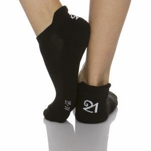 Kadın Siyah Havlu Patik Çorap WSC3S09